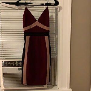 Windsor Plum and Black Bodycon Dress